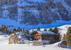 Ski resort of Selva di Val Gardena Stock Photography