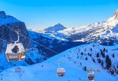 Ski resort of Selva di Val Gardena Stock Photo