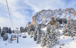 Ski resort of Selva di Val Gardena Royalty Free Stock Image