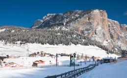 Ski resort of Selva di Val Gardena, Italy Stock Photos