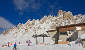 Ski resort of Selva di Val Gardena, Italy Stock Photography
