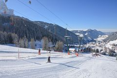 Ski resort of Selva di Val Gardena, Italy Royalty Free Stock Photos