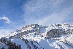 Ski resort of Selva di Val Gardena, Italy Royalty Free Stock Images