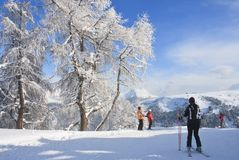 Ski resort of Selva di Val Gardena, Italy Stock Image