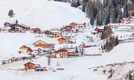 Ski resort of Selva di Val Gardena, Italy Royalty Free Stock Photo