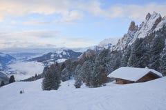 Ski resort of Selva di Val Gardena, Italy Stock Photography