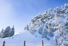 Ski resort of Selva di Val Gardena, Italy Stock Photo