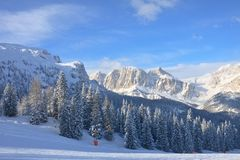 Ski resort of Selva di Val Gardena, Italy Royalty Free Stock Photography