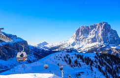 Ski resort of Selva di Val Gardena, Italy Royalty Free Stock Image