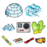 Ski resort set icons in cartoon style. Big collection of ski resort vector symbol stock illustration. Ski resort set icons in cartoon style. Big collection of Stock Images