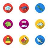 Ski resort set icons in flat style. Big collection of ski resort vector symbol  Royalty Free Stock Image
