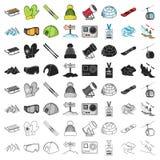 Ski resort set icons. In cartoon style. Big collection ski resort vector symbol stock Royalty Free Stock Images