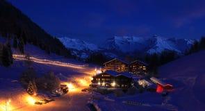 Ski resort. Seveiz, mountains in Switzerland stock image