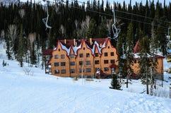 Ski resort Sheregesh, Mountain Shoria, Kemerovo region, Russia. Royalty Free Stock Photos