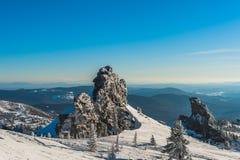 Ski resort Sheregesh, Tashtagol district, Kemerovo region, Russia. Sheregesh ski resort, Kemerovo region, Russian Federation stock photography