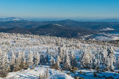 Ski resort Sheregesh, Tashtagol district, Kemerovo. Sheregesh ski resort, Kemerovo region, Russian Federation Stock Photography