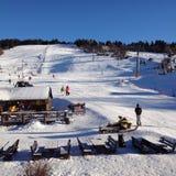 Ski resort. Small ski resort Krahule in central Royalty Free Stock Photography