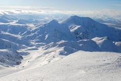 Ski resort and  snow mountains Royalty Free Stock Photo