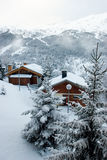 Ski resort after snow storm Royalty Free Stock Photography