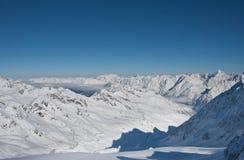 Ski resort of Solden. Austria. On the slopes of the ski resort of Solden. Austria Royalty Free Stock Image