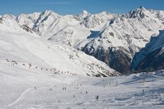 Ski resort  Solden. Austria Royalty Free Stock Images