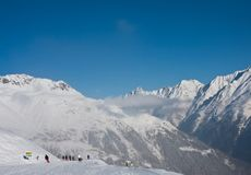 Ski resort of Solden. Austria Royalty Free Stock Photo