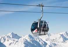 Ski resort  Solden. Austria Royalty Free Stock Photography
