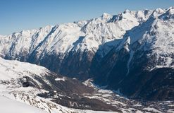 Ski resort  Solden. Austria Stock Photo