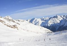 Ski resort  Solden. Austria Royalty Free Stock Image