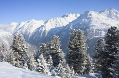 Ski resort of Solden. Austria Royalty Free Stock Images