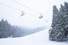 Ski resort with sparkling snow Stock Photography