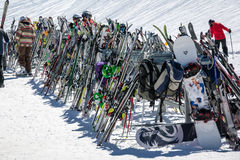 Ski resort Stubai glacier Austria Stock Image