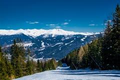 Ski resort Stubai glacier Austria Royalty Free Stock Photography