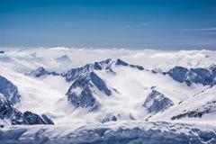Ski resort Stubai glacier Austria Royalty Free Stock Photo