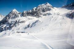 Ski resort Stubai glacier Austria Stock Photography