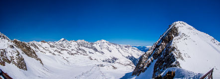 Ski resort Stubai glacier Austria Stock Images
