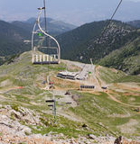 Ski Resort At Summer. The lifts of a ski resort on Parnassos mountain, Greece, during summer Royalty Free Stock Image
