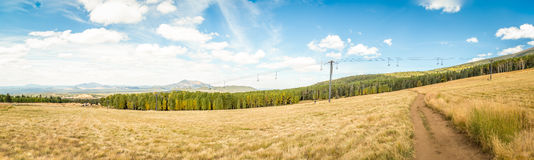 Ski resort in the summer. Amazing scenes of a ski resort in the summer Royalty Free Stock Images