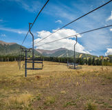 Ski resort in the summer. Amazing scenes of a ski resort in the summer Stock Photography