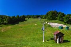 Ski resort in summer Royalty Free Stock Photography