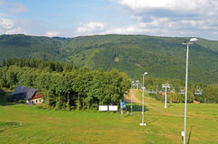 Ski resort in the  summer Royalty Free Stock Photo