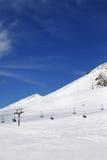 Ski resort at sun winter day Stock Photography