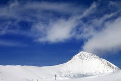 Ski resort at sun winter day Stock Image