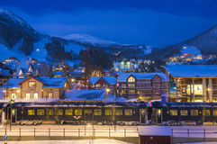 Ski resort in Sweden Stock Images