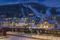 Ski resort in Sweden Stock Photography
