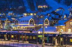 Ski resort in Sweden Stock Image