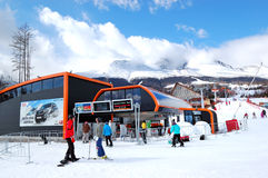 Ski resort Tatranska Lomnica Stock Photography