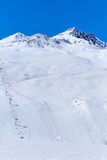 Ski Resort Tignes. Ski Resort Tignes Val Claret, Savoie, France Royalty Free Stock Photo