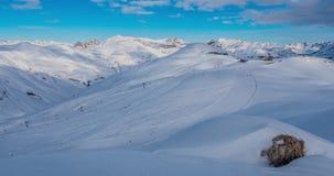 Ski Resort Timelapse 4k arkivfilmer