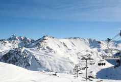 Ski resort Tinge France Royalty Free Stock Image